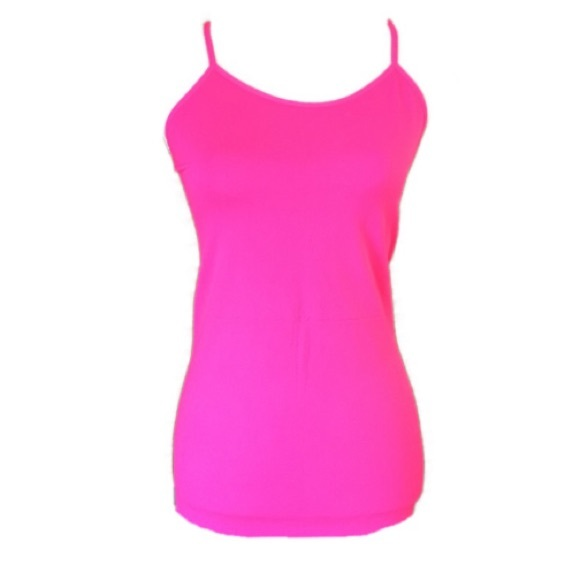 Ready 2 Go Hot Neon Pink Plus Size Tank Top